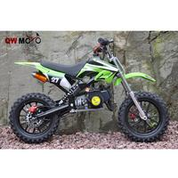 QWMOTO manufacture of racing dirt bike 50cc 2 Strokes Mini Dirt Bike electric/Gas Powered Mini Bike Baby Moto QWMPB-02