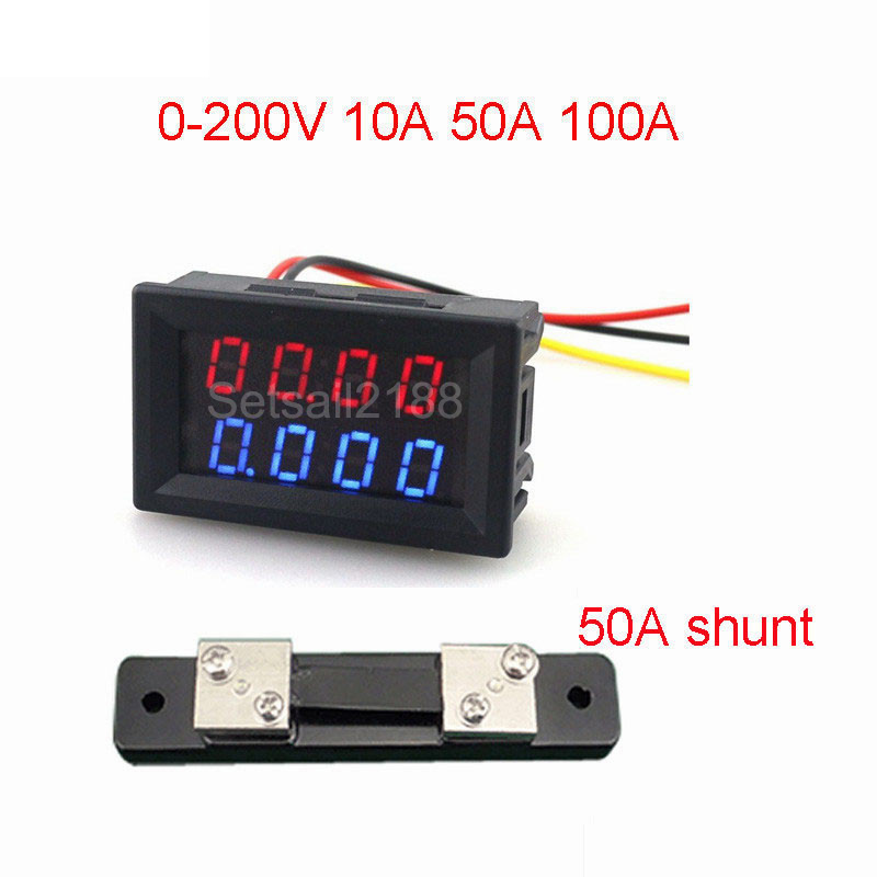 Voltage Monitor Module DC 0-100V Voltage Tester for Battery Charging Controller