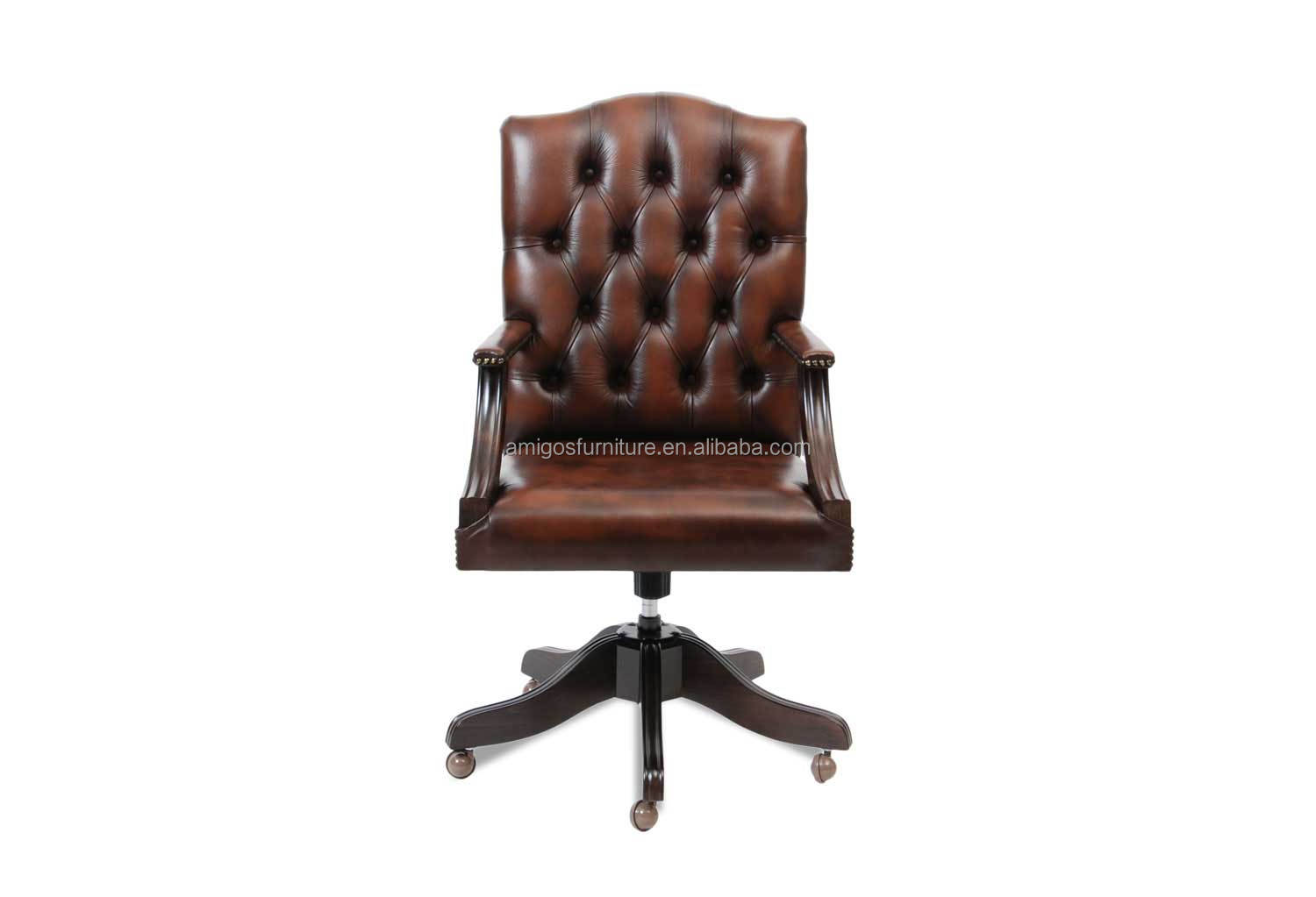 Chesterfield office chair - Chesterfield Mountbatten Leather Office Chair