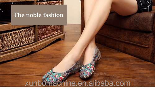 The loafer embroidery designs for ladies shoes