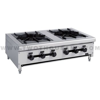 TT WE1213B 2 Burners Stainless Steel Table Top Gas Cooker Stove Hotplate