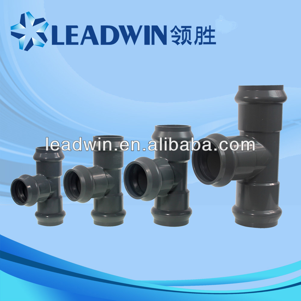 China Supplier Plastic Raw Material Types Of Pvc Pipe Fittings ...