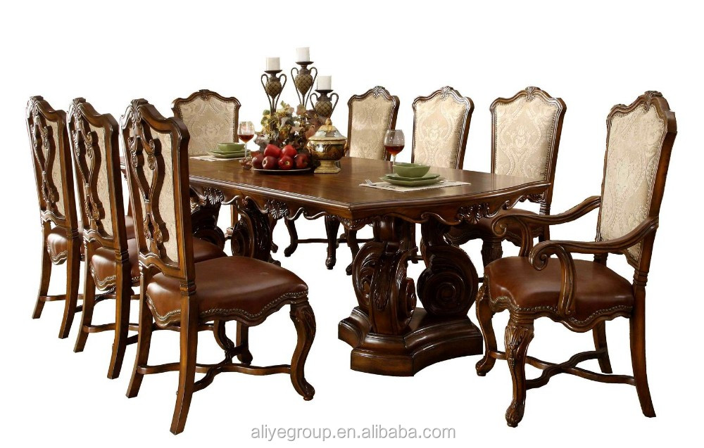9005A 25 Wood Furniture Made In Malaysia Big Dining Table And Chair Set