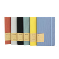 Labon Low MOQ Free Sample A5 Linen Fabric Hardcover Lined Grids Thick Paper Custom Notebook For Office Supply