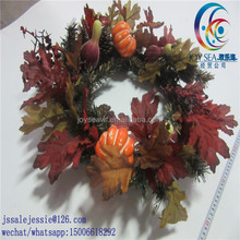artificial wooden christmas wreath with pine needle Christmas ornaments advent flower wreath
