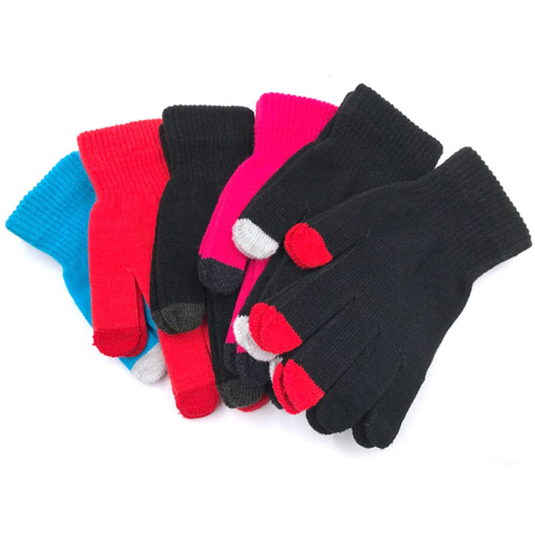 Adults Touch screen winter Acrylic knit magic gloves