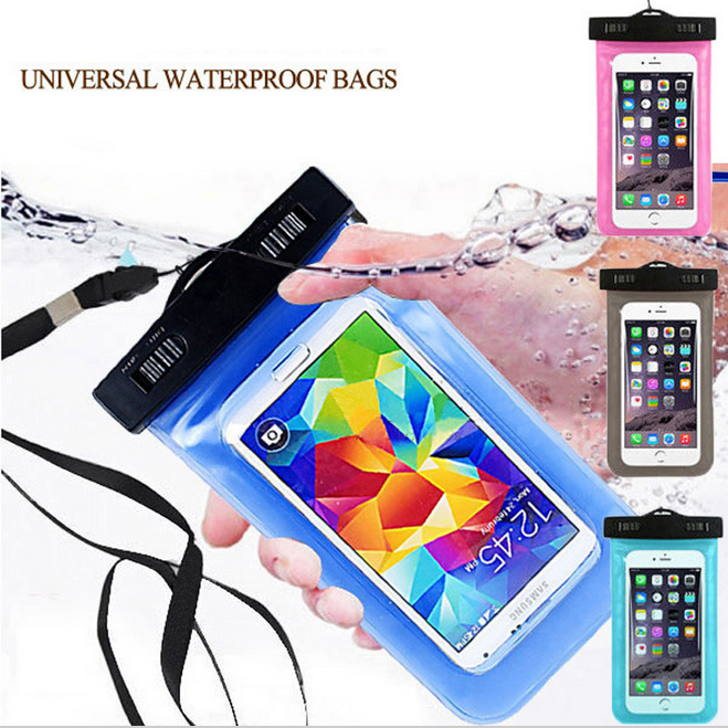 For Samsung Galaxy S7 S6 S5 S4 Mobile Cell Phone 5.7 to 6 inch Universal Waterproof Diving PVC Bag Case Underwater Pouch Cover