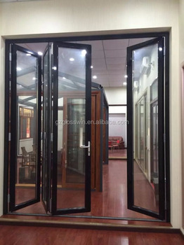 Aluminium Exterior Accordion Door In Factory For Sale Part 69