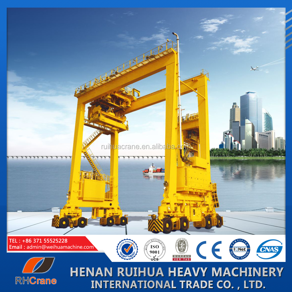 Rubber Tyre Container Gantry Crane price for outside warehouse