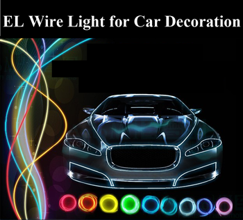 12v Led Light Rope El Glowing Wire/el Chasing Wire Super Bright Neon ...