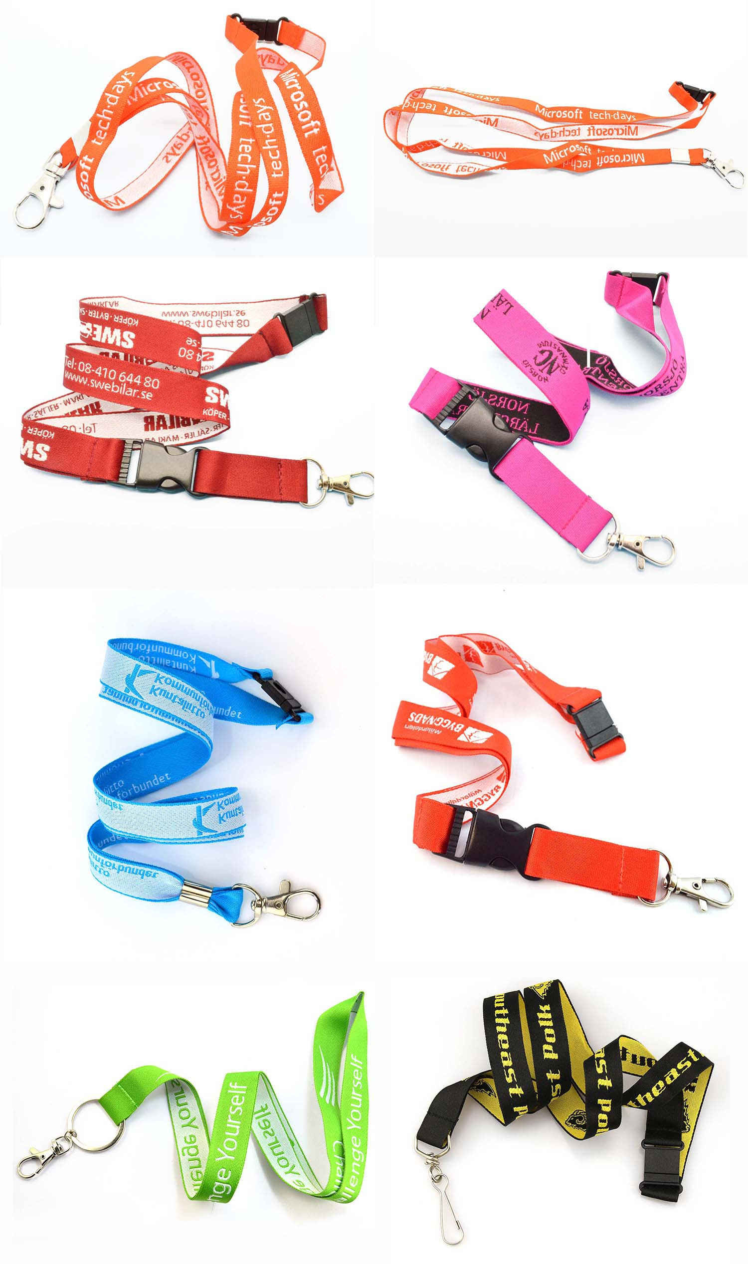 Hot sell printed cheap tube neck strap keychain lanyard with work id card holder