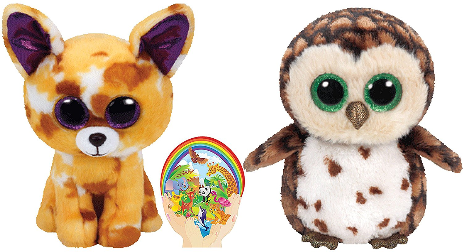 Ty Beanie Boos Owl SAMMY and Chihuahua Dog PABLO Unusual Friends Gift set  of 2 Plush cd81916363e8
