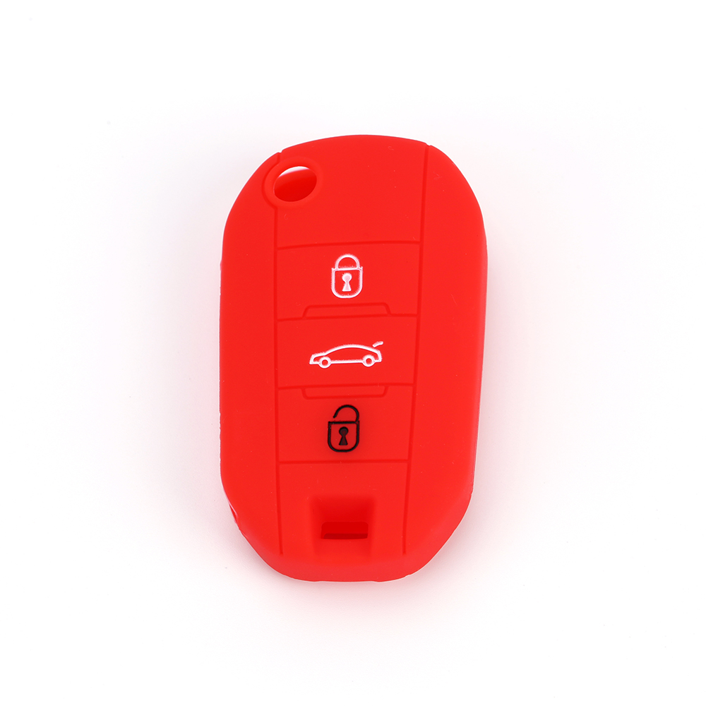 FOB <strong>key</strong> for Holder protective rubber 3 button smart <strong>key</strong> cover car <strong>key</strong> blank for smart car