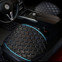 Crystal Rhinestones Leather Car Seat Cushion Protector Auto Seat Covers Diamond Interior Accessories Back Seats Protection Sets