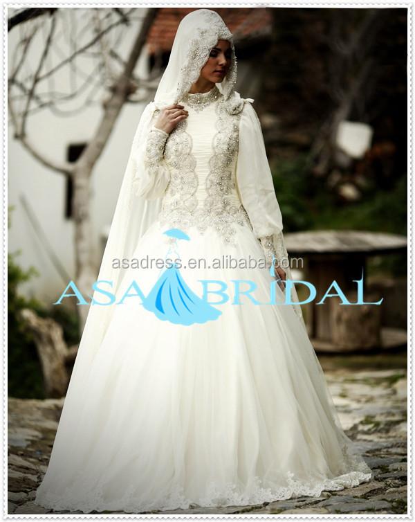 Plus Size Suzhou Brautkleid Schweren Perlen Arabische Spitze Langarm ...