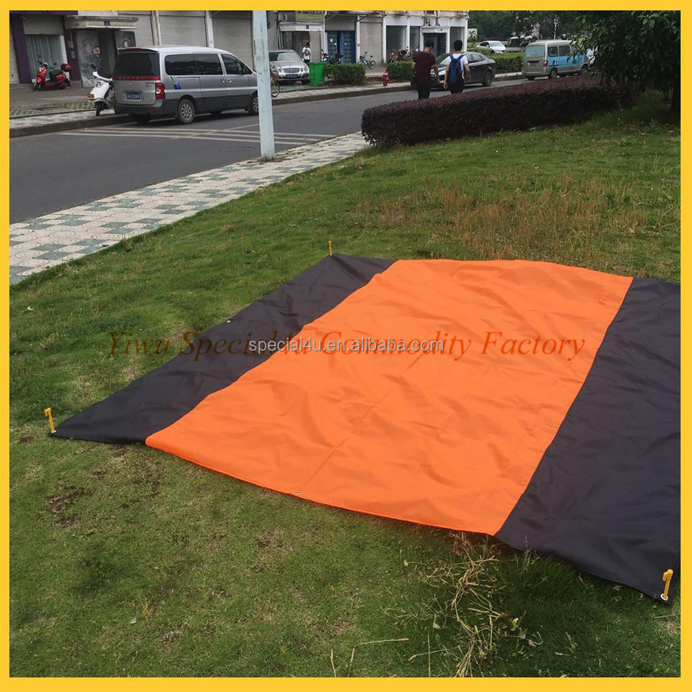 beach blanket parachute, waterproof beach pocket , waterproof picnic blanket target SPBB-083