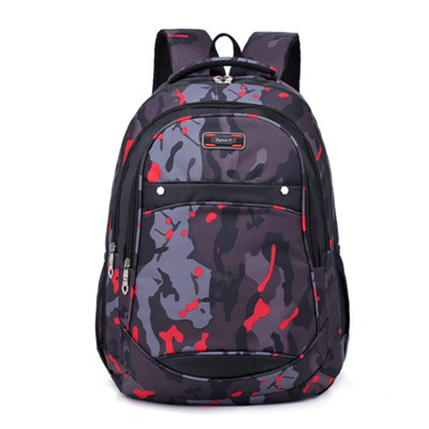 Engineeringed Camo Backpack Waterproof Nylon Women Men Backpack Laptop Backpack