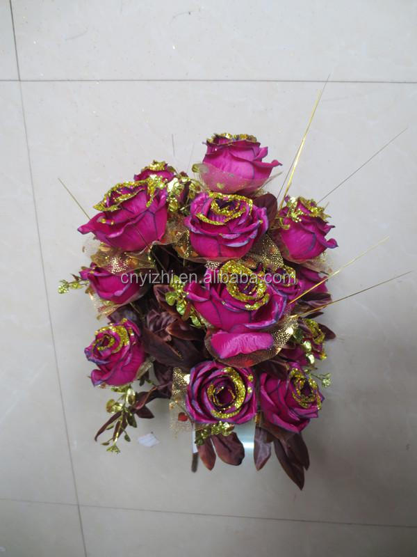 High Quality Artificial Flowers Bouquets,Metal Flower Bouquet,Flower ...