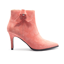 leather women shoes boots high heel ankle boots