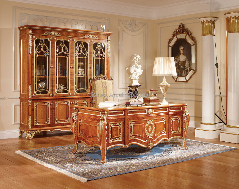 Luxury Vitoria Style Gold Leaf Dining Room Furniture