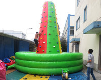 New design commercial inflatable rock climbing wall for sale