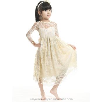 81020160d Vestidos De Niña Princesa Marfil Vestido De Encaje De Manga Larga Cariño  Vestido De Niña - Buy Vestidos De Novia De Encaje De Manga Larga,Vestidos  ...