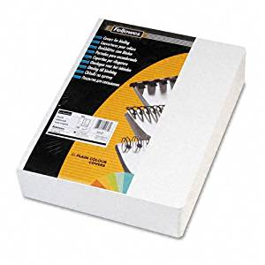 Fellowes : Classic Grain Texture Binding System Covers, 8 3/4 x 11 1/4, White, 200 per Pack -:- Sold as 2 Packs of - 200 - / - Total of 400 Each