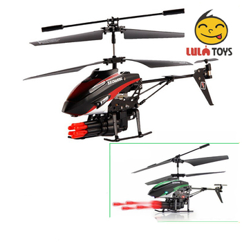 WLToys V398 Cool Missile Launching 35CH RC Remote Control Storm Rc Helicopter With Airsoft Gun