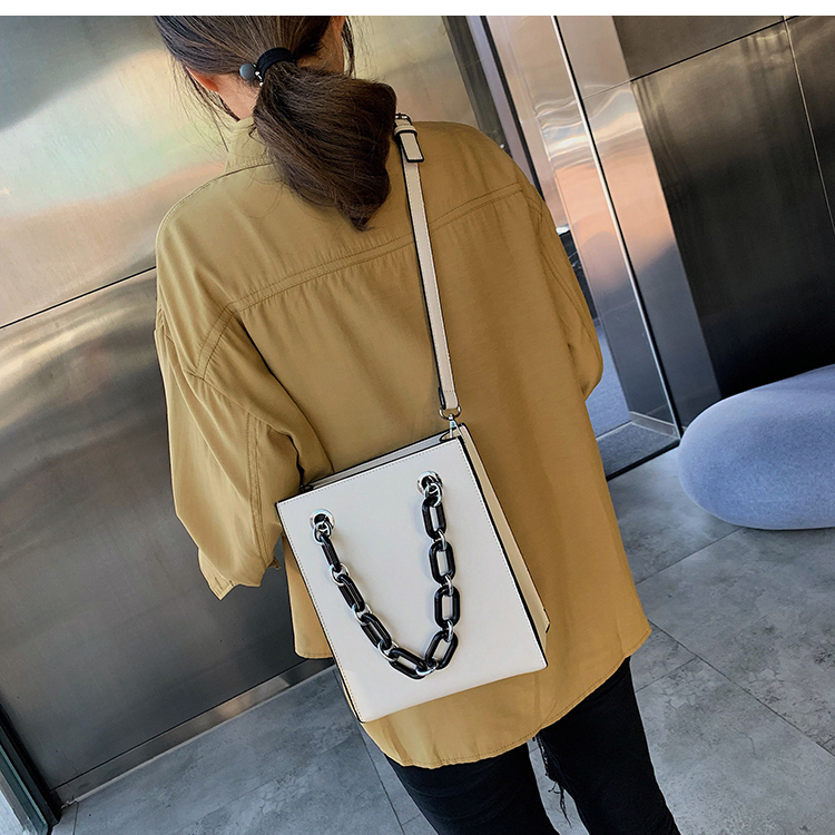 RKY0603 Simple single shoulder big female 2019 new fashion lady Korean version chain cross-body large capacity texture tote bag-4