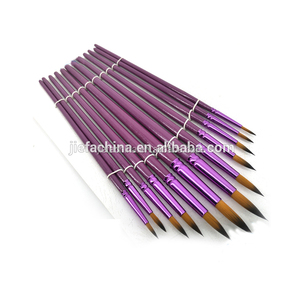 12 pcs/set Professional Synthetic Hair Art Paint Brush Artist Brush Set