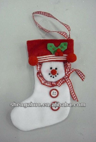 2015 New design plush and stuffed Christmas sock and keychain