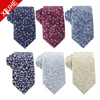 2019 OEM Service Colorful Jacquard Woven Mens Cheap Ties Polyester Floral Neck Tie for Custom