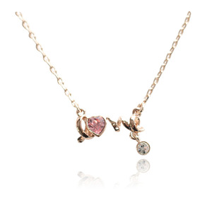YANYI Simple Korean Necklace Designs with Heart in Gold for Wholesale