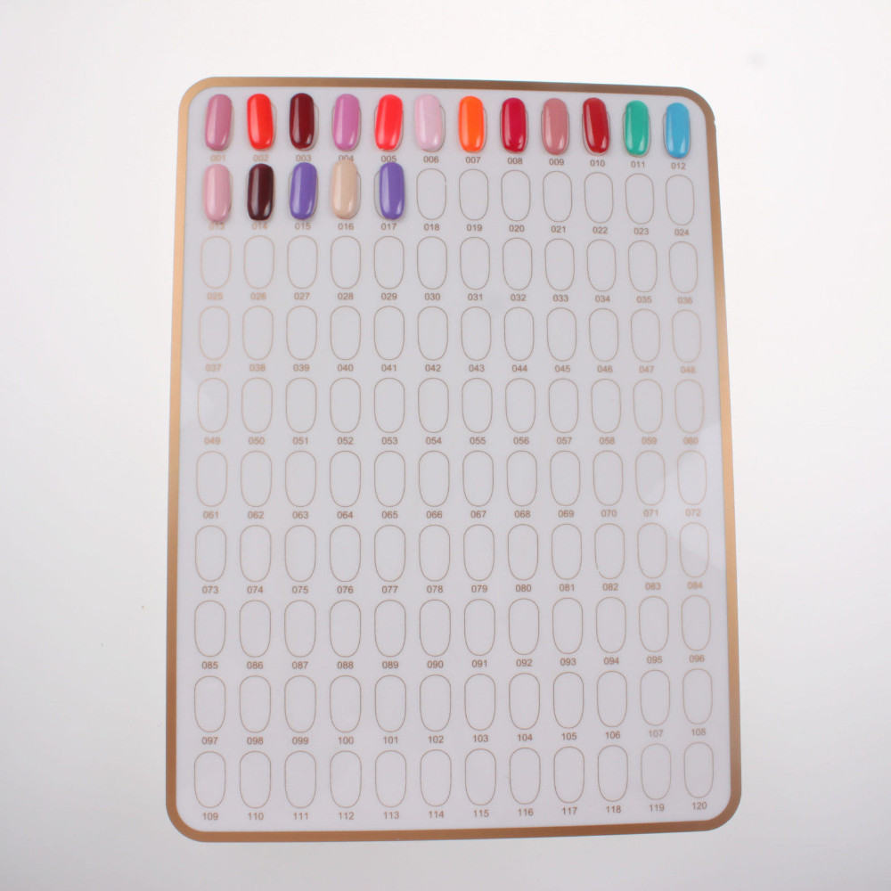 UVTL166 120 Rooms Nail Art Display Board Stand & Practice Tips Glue s2