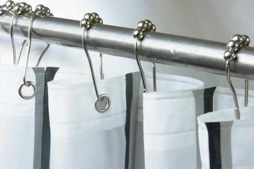 Get Quotations 12 Piece Set Rustproof Stainless Steel Shower Curtain Rings Hooks For Bathroom Rod