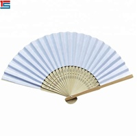 manual folding blank hand fans for DIY