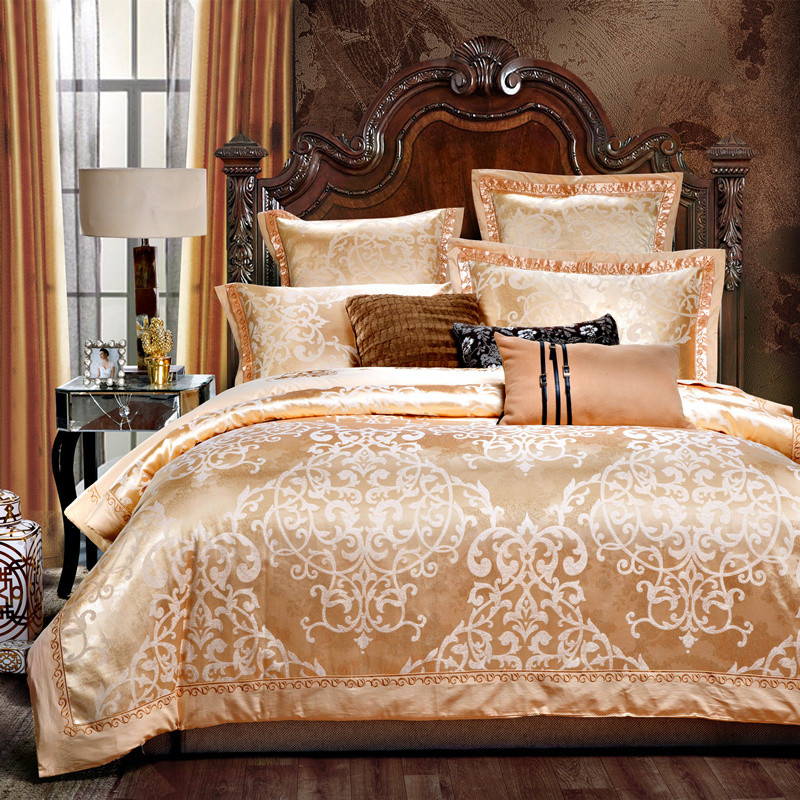 Stain Jacquard King Queen Size Bedding Sets Red Color Luxury Wedding Bed  Set Noble Bedclothes Duvet Cover Bed Sheet Set Duvet Covers Set Cheap White  ...