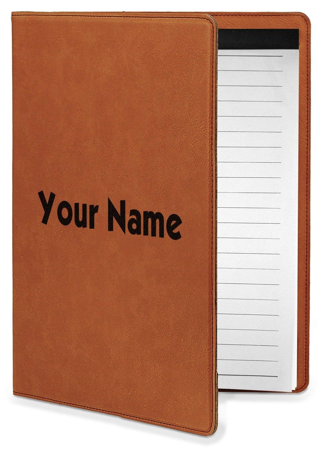 Block Name Leatherette Portfolio with Notepad - Small - Single Sided (Personalized)