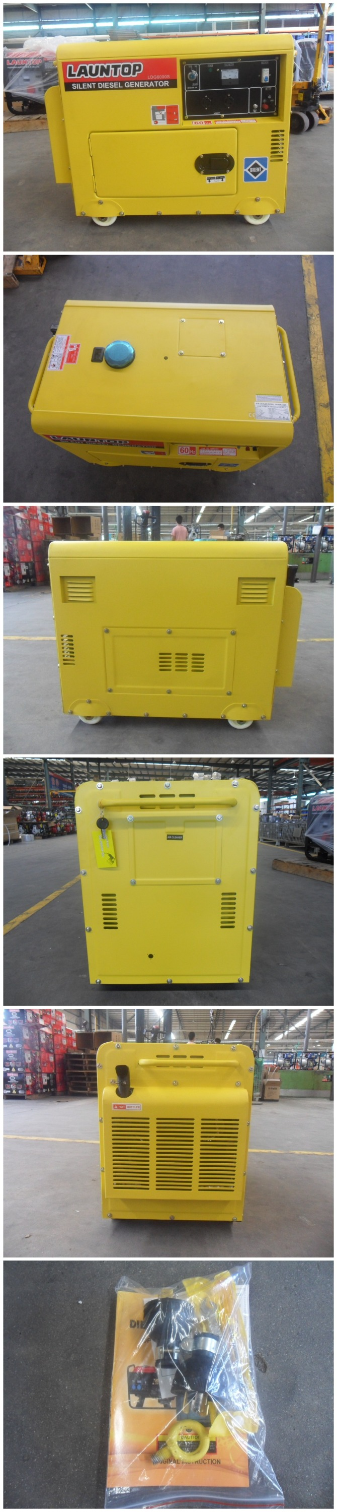 Launtop supply 5kw High Quality Silent Diesel Generator with 9hp