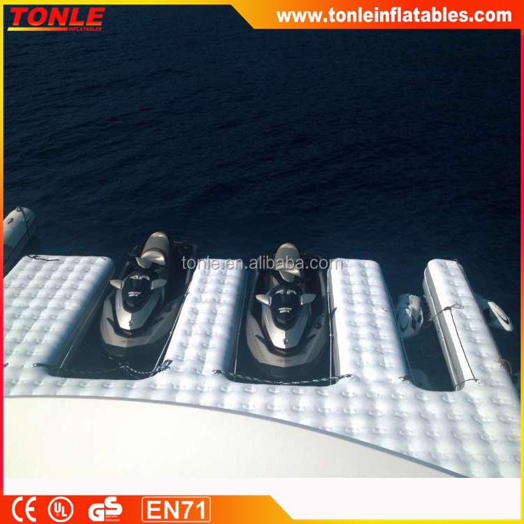 mega Jet Ski inflatable dock for yachts, inflatable personal watercraft dock
