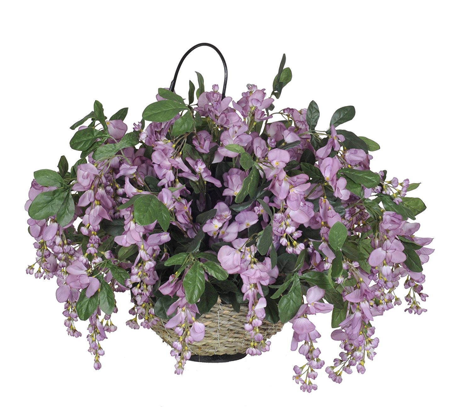 Buy House Of Silk Flowers Artificial Wisteria Hanging Basket Purple