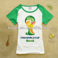 Brazil Soccer World Cup 2014 T Shirt Customized
