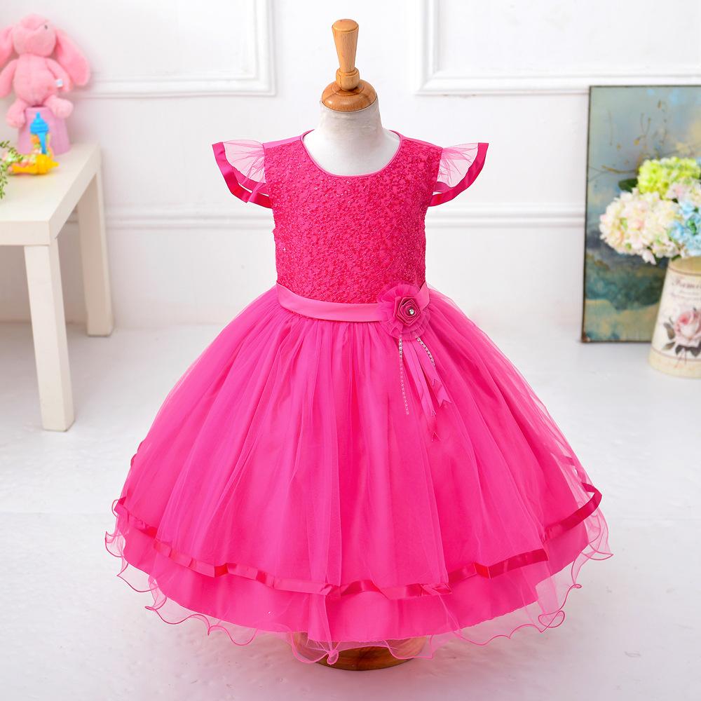 Venta en línea occidental boutique simple vestido para niñas de las ...