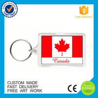 Best selling transparent custom plastic clear acrylic keychain