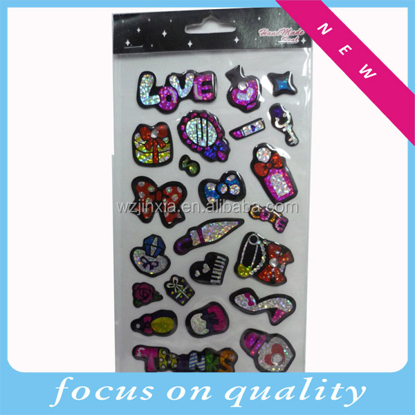 Fashion Cindy clear shining epoxy resin stickers