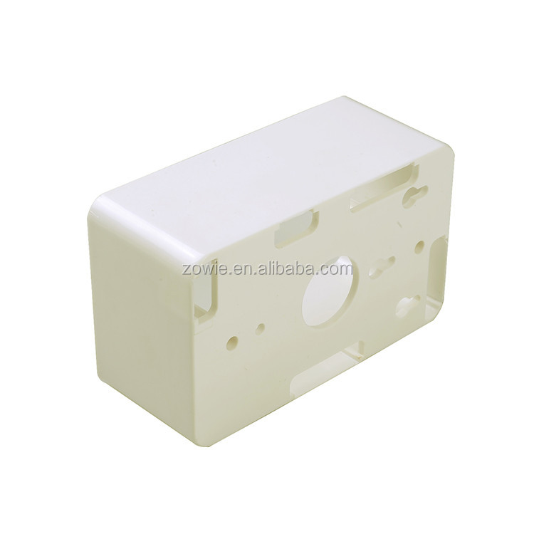 Plastic electrical face plate back box