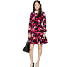 Hot sale women long sleeve floral print dress, peter pan collar dress , fashion spring dress for women