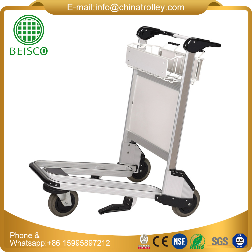 Folding Aluminium Alloy Airport Luggage Trolley