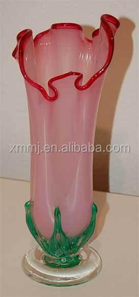 moderne main soufflé art fleur rose en verre de murano vases pour