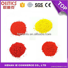 Inclusion bright red ceramic pigment Inclusion big yellow glaze stains